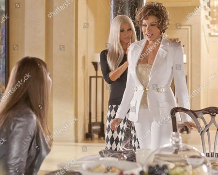Stock Picture of Gina Gershon, Raquel Welch