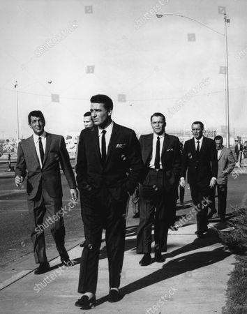 Dean Martin, Henry Silva, Peter Lawford, Frank Sinatra, Joey Bishop, Buddy Lester