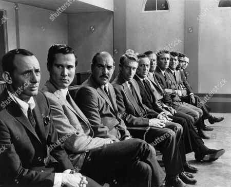 Joey Bishop, Henry Silva, Richard Benedict, Clem Harvey, Norman Fell, Buddy Lester, Peter Lawford, Dean Martin, Sammy Davis Jr, Frank Sinatra