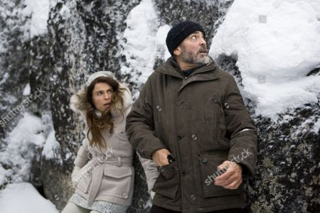 Stock Picture of Irina Bjorklund, George Clooney
