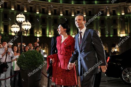 Stock Picture of Monica Nappo, Roberto Benigni