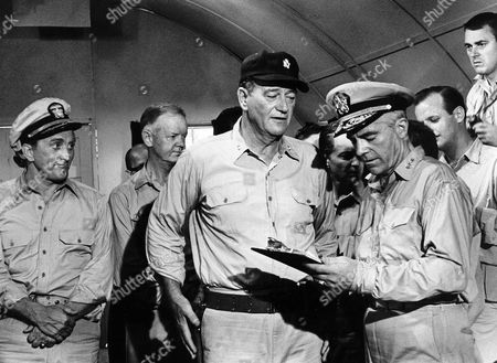 Kirk Douglas, John Wayne, Dana Andrews