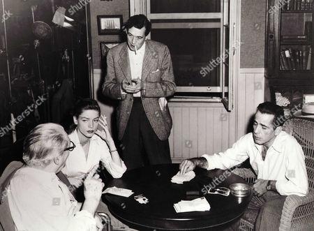 Lionel Barrymore, Lauren Bacall, John Huston, Humphrey Bogart