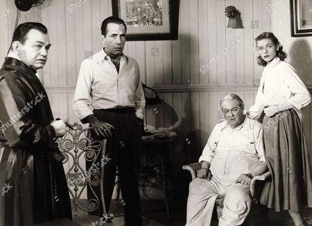Edward G. Robinson, Humphrey Bogart, Lionel Barrymore, Lauren Bacall