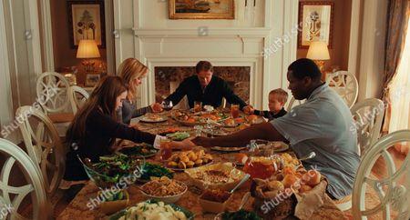 Lily Collins, Sandra Bullock, Tim McGraw, Jae Head, Quinton Aaron