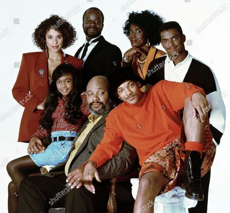 Stock Picture of Karyn Parsons, Joseph Marcell, Janet Hubert, Alfonso Ribeiro, Tatyana Ali, James Avery, Will Smith
