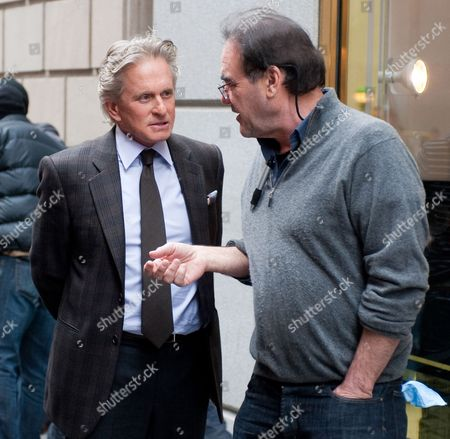 Stock Picture of Michael Douglas, Oliver Stone