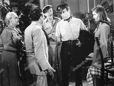 Marcel Dalio, Walter Brennan, Humphrey Bogart, Lauren Bacall