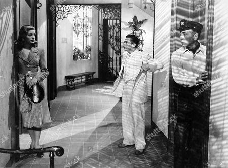 Lauren Bacall, Marcel Dalio, Humphrey Bogart
