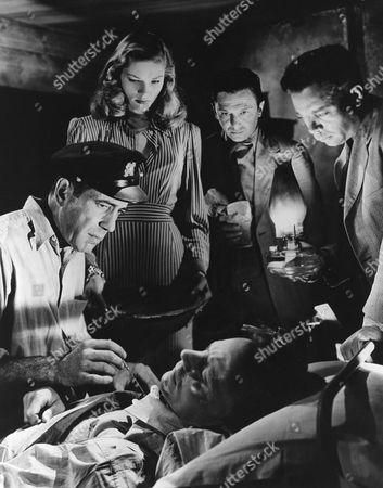 Humphrey Bogart, Lauren Bacall, Walter Molnar, Marcel Dalio