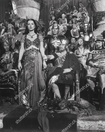 Stock Image of Hedy Lamarr, Henry Wilcoxon, George Sanders