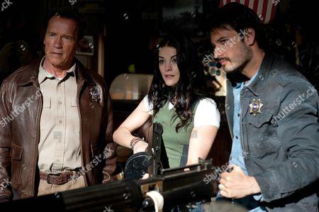 Arnold Schwarzenegger, Jamie Alexander, Eduardo Noriega