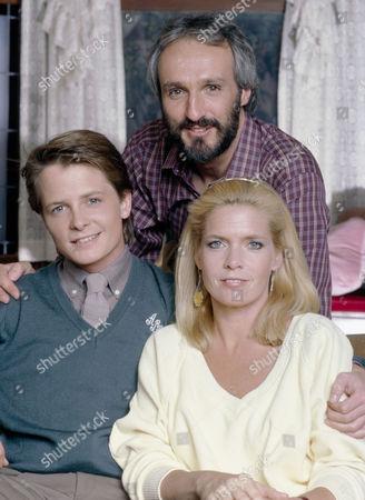 Michael Gross, Michael J. Fox, Meredith Baxter Birney
