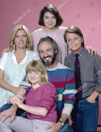 Justine Bateman, Meredith Baxter Birney, Michael Gross, Michael J. Fox, Tina Yothers