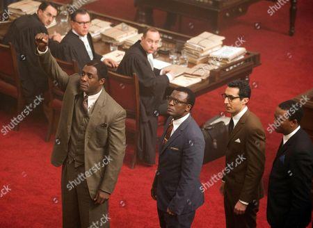 Stock Picture of Idris Elba, Tony Kgoroge, Riaad Moosa, Thapelo Mokoena