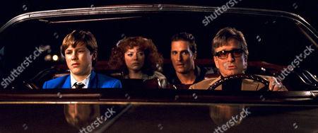 Stock Picture of Devin Brochu, Emma Stone, Matthew McConaughey, Michael Douglas