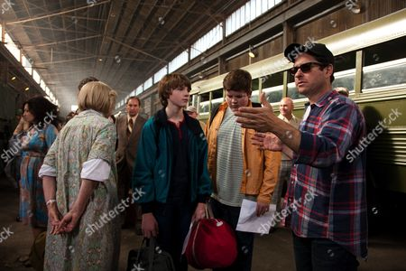 Stock Picture of Joel Courtney, Riley Griffiths, J.J. Abrams