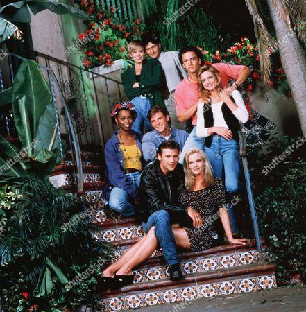 Clockwise (From Top Left), Josie Bisset, Thomas Calabro, Andrew Shue, Courtney Thorne-Smith, Amy Locane, Grant Show, Doug Savant, Vanessa Williams