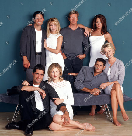 Clockwise (From Top Left), Rob Estes, Heather Locklear, Jack Wagner, Jamie Luner, Josie Bisset, Thomas Calabro, Kelly Rutherford, John Haymes Newton