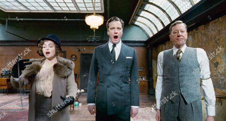 Helena Bonham Carter, Colin Firth, Geoffrey Rush