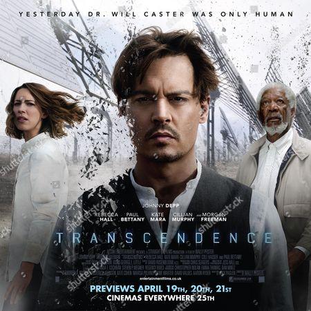 Rebecca Hall, Johnny Depp, Morgan Freeman