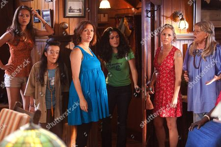 Stock Image of Jamie Chung, Ashley Loren, Maya Rudolph, Salma Hayak, Maria Bello, Joyce Van Patten