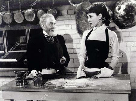 Stock Image of Marcel Dalio, Audrey Hepburn