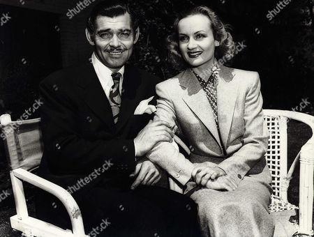 Stock Photo of Clark Gable, Carole Lombard