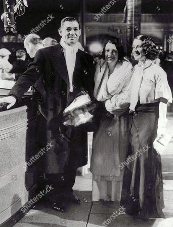 Stock Picture of Clark Gable, Norma Shearer, Ria Langham Gable