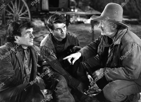 Stock Picture of Noah Beery Jr, Montgomery Clift, Walter Brennan
