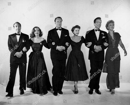 Gary Merrill, Bette Davis, George Sanders, Anne Baxter, Hugh Marlowe, Celeste Holm