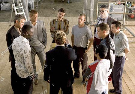 Don Cheadle, George Clooney, Brad Pitt, Casey Affleck, Scott Caan, Elliott Gould, Eddie Jemison, Matt Damon, Shaobo Qin, Eddie Izzard