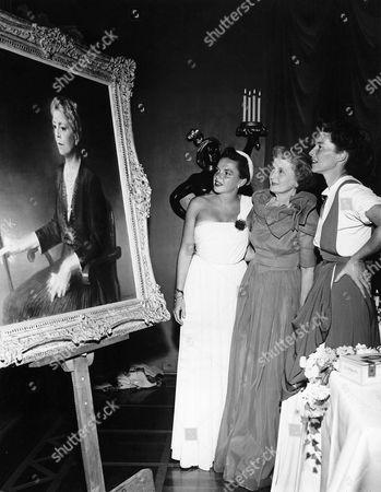 Stock Picture of Judy Garland, Billie Burke, Katharine Hepburn