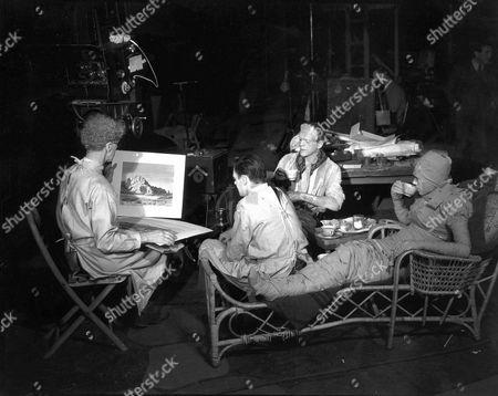 Ernest Thesiger, Colin Clive, Boris Karloff, Elsa Lanchester