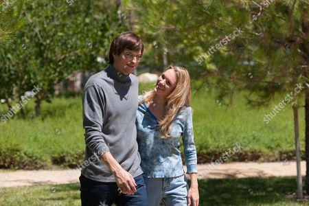 Stock Image of Ashton Kutcher, Abby Brammell