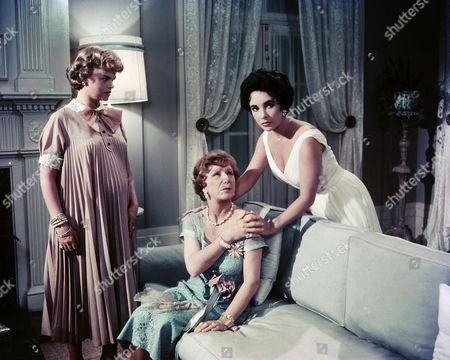 Madeleine Sherwood, Judith Anderson, Elizabeth Taylor