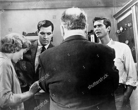 Vera Miles, John Gavin, Alfred Hitchcock, Anthony Perkins