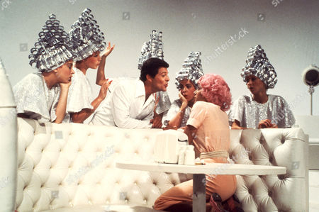 Stock Picture of Dinah Manoff, Jamie Donnelly, Frankie Avalon, Stockard Channing, Didi Conn