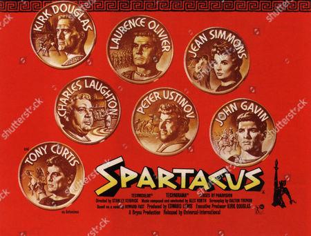 Tony Curtis, Charles Laughton, Peter Ustinov, John Gavin, Jean Simmons, Laurence Olivier, Kirk Douglas