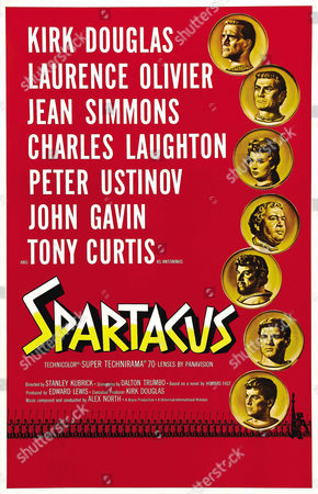 Kirk Douglas, Laurence Olivier, Jean Simmons, Charles Laughton, Peter Ustinov, John Gavin, Tony Curtis
