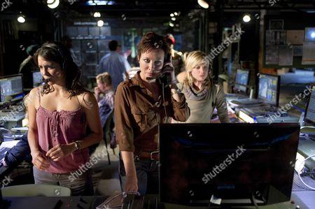 Stock Picture of Michelle Lukes, Amanda Mealing, Eva Birthistle