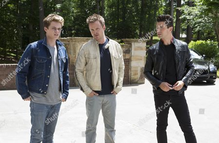 Stock Picture of Harrison Gilbertson, Aaron Paul, Dominic Cooper