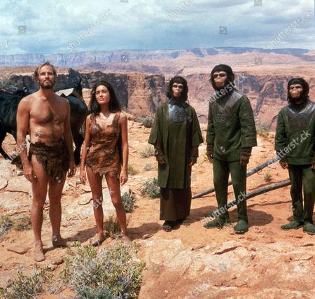 Charlton Heston, Linda Harrison, Kim Hunter, Roddy McDowall, Lou Wagner