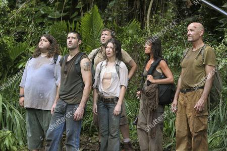 Jorge Garcia, Matthew Fox, Daniel Roebuck, Evangeline Lilly, Mira Furlan, Terry O'Quinn