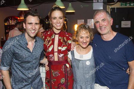 Stock Image of Matthew Lewis (Peter), Ruta Gedmintas (Tara), Niamh Cusack (Joan) and Sean Campion (Tom)