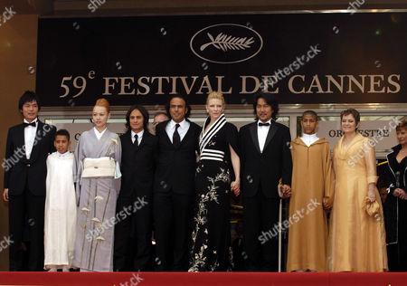 Rinko Kikuchi, Gael Garcia Bernal, Alejandro Gonzales Inarritu, Cate Blanchett and Koji Yakusho with guests