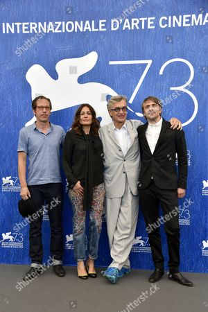 Reda Kateb, Sophie Semin, Wim Wenders and Jens Harzer