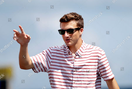 Stock Image of Jake Short Actor Jake Short is introduced before a NASCAR Sprint Cup Series auto race at Michigan International Speedway, in Brooklyn, Mich