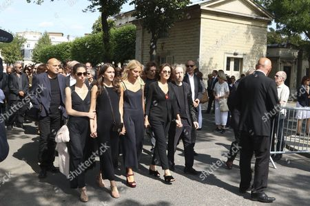 Nathalie Rykiel and mourners
