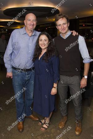 Simon Day (Ester), Laura Kirman (Laura) and James Marlowe (Val)